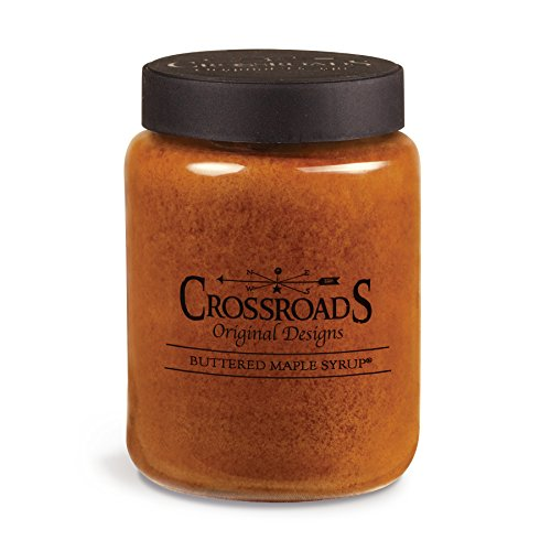 Crossroads Buttered Maple Syrup Scented 2-Wick Candle, 26 - Stand English Candle