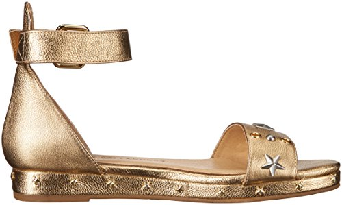 Scarpe Da Donna Cinesi Sandalo Liscio In Metallo Dorato