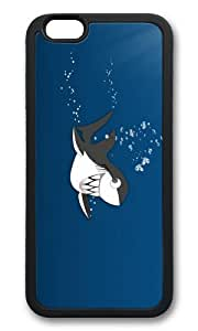 MOKSHOP Adorable funny shark teeth Soft Case Protective Shell Cell Phone Cover For Apple Iphone 6 Plus (5.5 Inch) - TPU Black by Maris's Diary