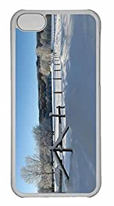 iPhone 5C Case, Personalized Custom Winter Snowy Road Scenery for iPhone 5C PC Clear Case