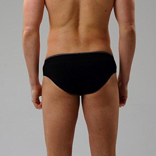Honghu Solid Color Coton Slips Homme Size S Noir