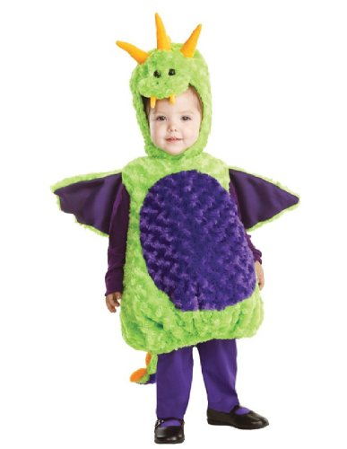 Underwraps Baby's Dragon Belly-Babies, Green/Purple, Large (Dragon Costumes For Baby)