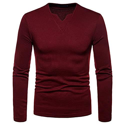 Simayixx Shirts for Men, Pullover Sweaters Plus Size Baseball T Shirt Raglan Jersey Blouses Slim Fit Sweatshirts