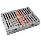 Dental Surgical Sterilization Autoclave Cassette Tray Racks Box for 10 Instruments With Lock