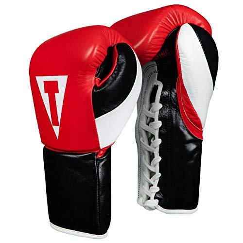 Title Boxing Premium Leather Pro Fight Glove, Blue/Black/White, 10 ()