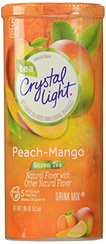 Crystal Light Green Tea Peach Mango Drink Mix, 1.85 Ounce