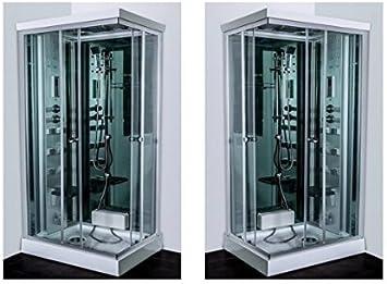 Cabina de hidromasaje 70 x 90 cm reversible y Cromoterapia ...