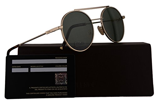 Fendi FF0221/S Sunglasses Gold w/Light Green 52mm Lens J5GQT FF0221S FF 0221S FF - Fendi 2017 New Sunglasses