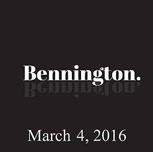 Bennington, March 4, 2016 Radio/TV Program