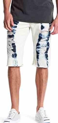 535c90609b True Religion Straight Flap Pocket Rip/Beached Arctic Fig Short Men's Size  34