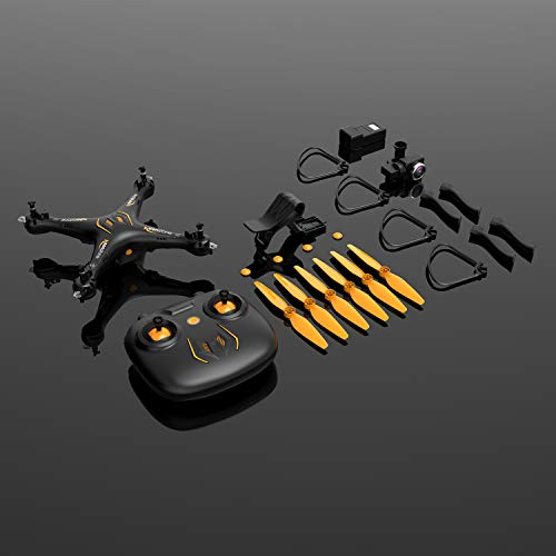 GPS FPV Drone W9 with 1300mAh Battery 15mins Flight Time, 120°Wide-Angle and 5G WiFi Quadcopter Video Camera Drone for Beginners, RTF One Key Take Off/Landing, Altitude Hold, Headless Mode