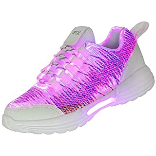 Fiber Optic LED Shoes Light Up Sneakers for Women Men with USB Charging Flashing Festivals Party Dance Luminous Kids Shoes