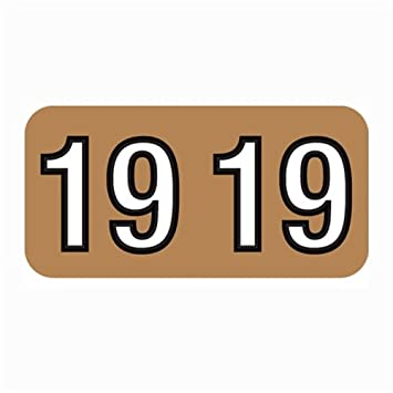 3//4H x 1-1//2W 2019 Barkley Compatible Roll of 500 Laminated Year Label