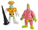 Fisher-Price Imaginext Nickelodeon SpongeBob SquarePants Movie (2-Pack), Mr. Superawesomeness and Sour Note Figures