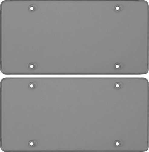 Cruiser Accessories Smoke Polycarbonate Tough Flat Novelty/License Plate Shield (2 Shields) -