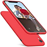 DTTO Case for iPhone XR, [Romance Series] Silicone Case with Hybrid Protection for Apple iPhone XR 6.1 Inch - Apple Red