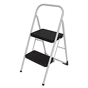 Amazon Com Two Step Folding Step Stool In Gray Office
