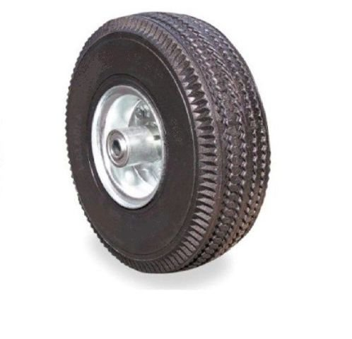 One Pneumatic Air Tire 10'' x 3.5'' Hand Truck Wheel (Fully Inflated)