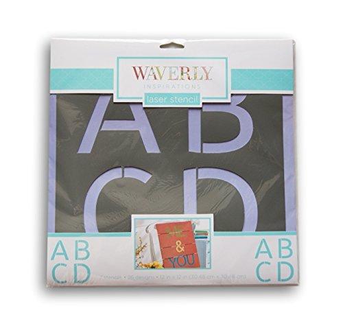 Waverly Inspirations Large Laser Cut Alpha Basic Alphabet Stencils - 12
