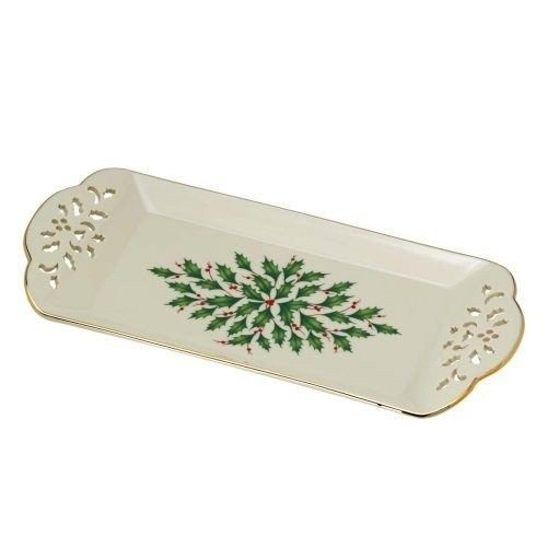 DistiKem(TM) Lenox Holiday Pierced Tidbit - Holiday Tidbit Tray