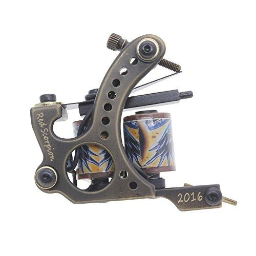 Redscorpion Tattoo Machine Tattoo Gun Brass Frame Handmade Coil (Shader)
