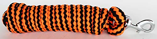- CHALLENGER 10' Horse Nylon Soft Poly Braided Lead Rope w/Nickle Plated Snap 60561