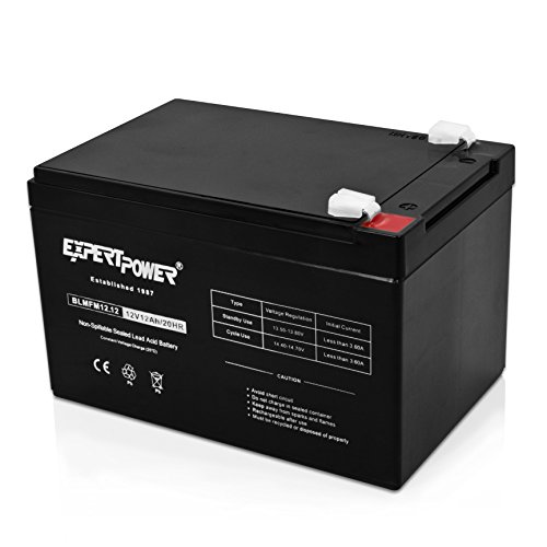 ExpertPower-12V-12AH-Sealed-Lead-Acid-SLA-LW-6FM12S-LHR12-12-HR1251W-GPS12-12F2-and-BP12-12-Replacement-Battery-Black-EXP1212-Absorbent-Glass-Mat-1-Pack