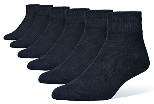Atist 6 Pack Size 6-15 (70% Cotton) Ankle Black&White Socks For Men and Women