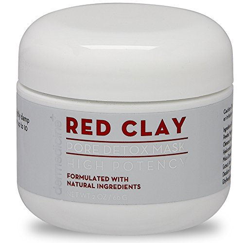 Natural Red Clay Pore Detox Mask for Face | Purifying w/Aloe