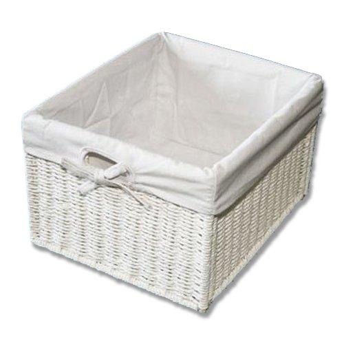 KMH®, Praktische Korb-Box im Rattan-Look (weiss) (#204039)