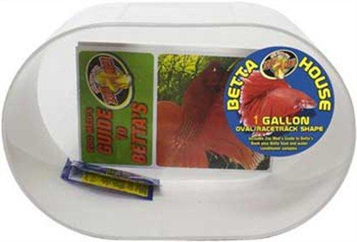 Zoo Med Betta Condo 1 Gallon Oval Racetrack White, My Pet Supplies