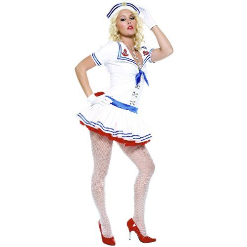 Sailor Sweetie Adult Costumes (Forplay Women's Sailor Sweetie Adult Sized Costumes, White, X-Small)