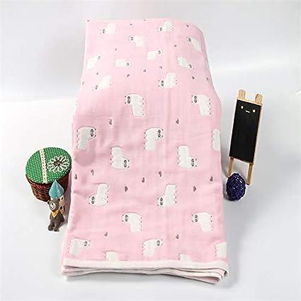 Lxryxx Toalla de baño para bebés Toalla de baño para niños Seis Capas de Gasa Gasa