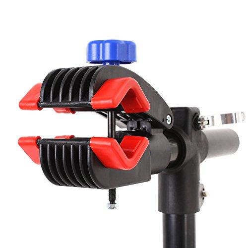 MVpower Soporte Caballete de Reparación para Bicicleta Bici Carga Hasta 50 KG Soporte Plegable Bici Altura Ajustable (Apoyo de 4 Pies, 115-170 cm): ...