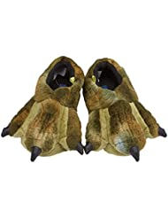 Stride Rite Childrens Plush Slippers - Green Dino Claws