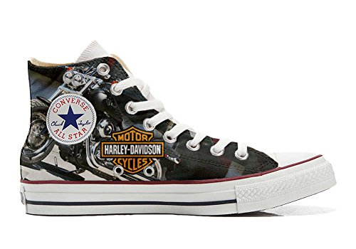 Converse All Star Hi Customized personalisierte Schuhe (Handwerk Schuhe) motor cycles