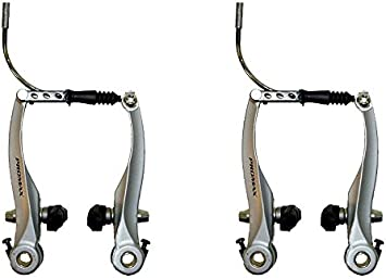 Fahrrad V-Brake Bremskörper Bremsen Set Aluminium schwarz Felgenbremse