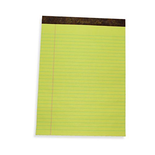 ALL-STATE LEGAL Premium Pad, Letter Size Legal Pads, 60 Point Double Thick Backer, Legal Ruled, Canary, 1 Dozen