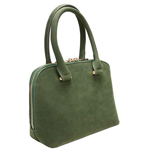 Alpenflüstern Trachten-Handtasche Steinbock DTA05600050 Damen Umhängetaschen 23x16x9 cm, Grün