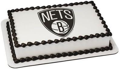 Excellent Amazon Com Brooklyn Nets Licensed Edible Cake Topper 16791 Funny Birthday Cards Online Inifodamsfinfo