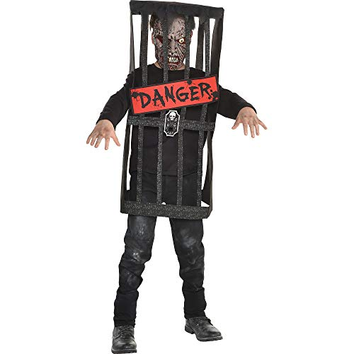 Halloween Costumes Zombie Hunter (Caged Zombie Halloween Costume for Boys, Medium, with Included Accessories, by)
