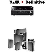 Yamaha RX-V685BL 7.2-Channel 4K Ultra HD AV Receiver + Definitive Technology ProCinema 600 5.1 Home Theater Speaker System Bundle