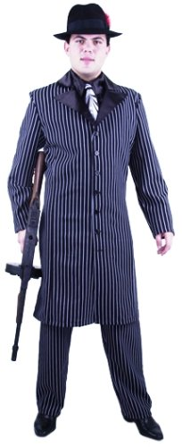 Men's Long Gangster Suit Costume (Sz: Small 36-38) (Long Gangster Suit Costumes)