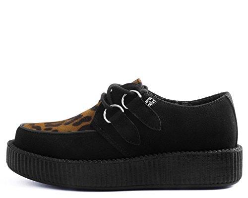 La Negro Vamp de Microfibra con Viva U Enredadera UKM8 EU42 Leopardo Bajo K Shoes T 4xtqP1A1