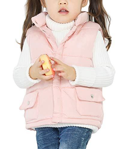 88f07c3904b42 Happy Cherry Kids Girls Padded Vest Button Down Pockets Winter Warm  Sleeveless Jakcet