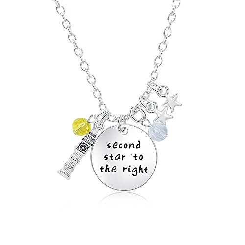 Inspirational Necklace Pendant For Woman Teen Girls Peter Pan Story Quotes Jewelry Prime Gift