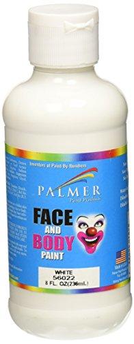 Palmer 56022-6 Face & Body Paint, 8 oz, White