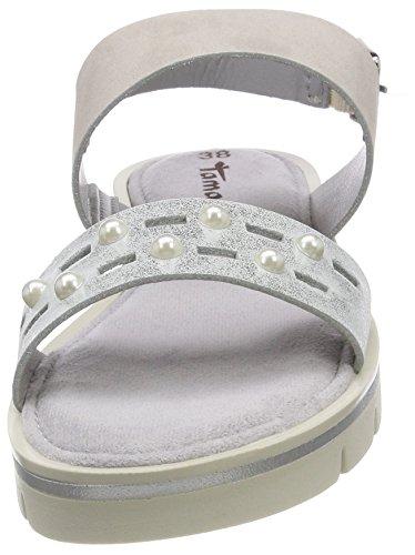 Mujer De Sandalias Para Gris Abierto Tamaris Talón grey 28227 silver Y4ExUw