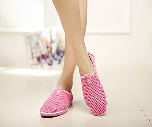 Jixing Dames Cross-country-running-schoenen Roze