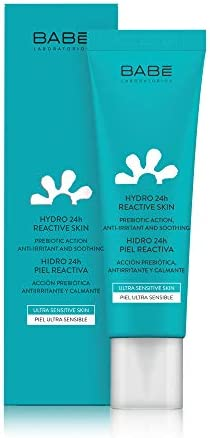 Laboratorios Babé Crema Facial Hidratante 24 Horas Piel Reactiva, Piel Sensible, Calmante, Alivio Inmediato, Antirojeces, Tono Uniforme - 50 ml